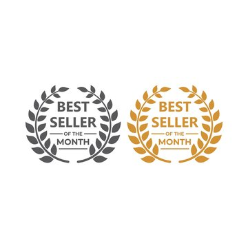 Best seller of the month. Vector logo icon template