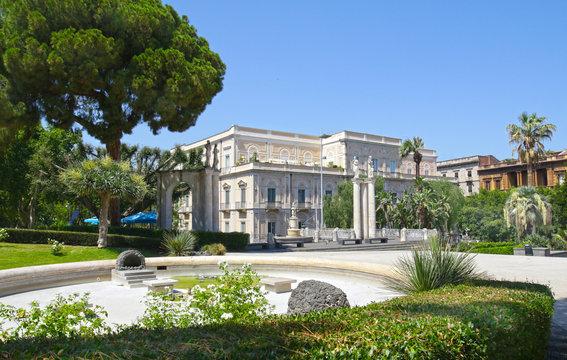Bellini Garden, a public park in Catania, Sicily, Italy