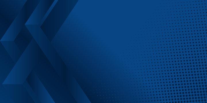 Dark blue modern presentation backgroun with halftone. Vector illustration design for presentation, banner, cover, web, flyer, card, poster, wallpaper, texture, slide, magazine, and powerpoint.