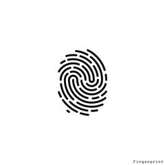 Human fingerprint. Vector illustration. Isolated fingerprint on white background