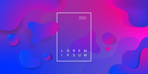 Colorful geometric background design. Fluid shapes composition with trendy gradients. Eps10 vector