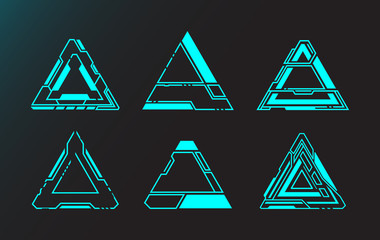 Triangle shape abstract technology future interface hud.