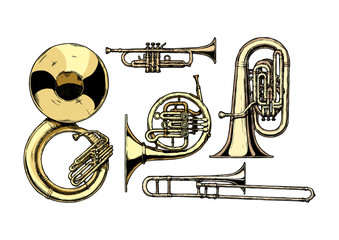 brass musical instrument Wall mural