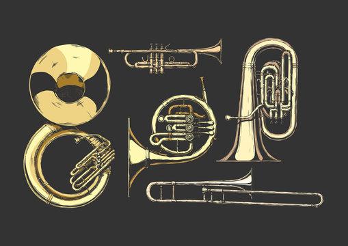 brass musical instrument