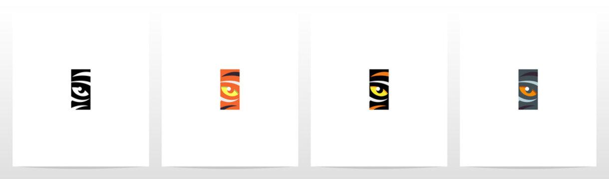 Tiger Eye Inside Letter Logo Design I