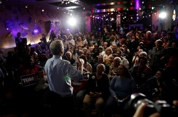 Democratic U.S. presidential candidate and billionaire activist Steyer speaks at a meet and greet at in Myrtle Beach