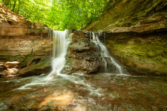 waterfall in the forest - Spencer, Indiana - McCormick's Creek Canyon Falls
