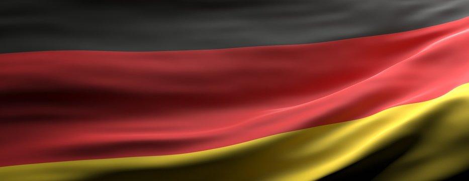 Germany national flag waving texture background. 3d illustration