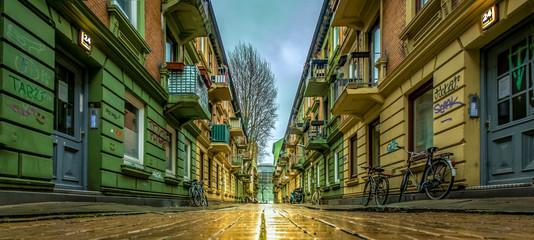 Foto auf Leinwand Altes Gebaude Hamburg
