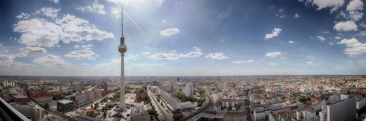 Wall Murals Berlin Panoramic view of Berlin city on a sunny day