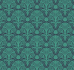 Paisley floral pattern , textile swatch , India