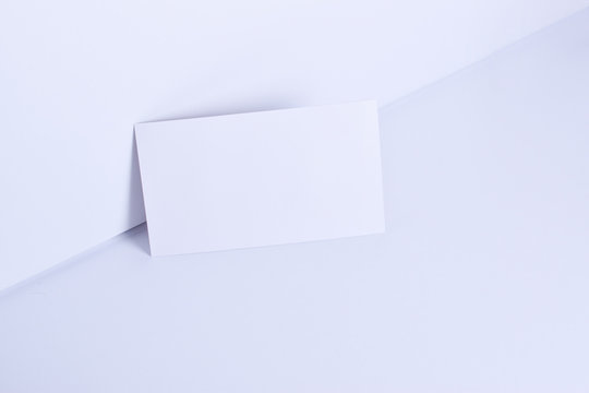 Blank business card on clean background for corporate identity and brands mockups