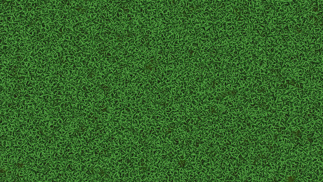 3D Rendering of thick green grass field. For garden background.