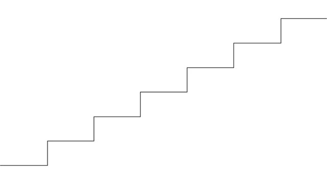 Continuous line drawing of the stairs. illustration