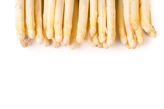 bundle of organic white asparagus