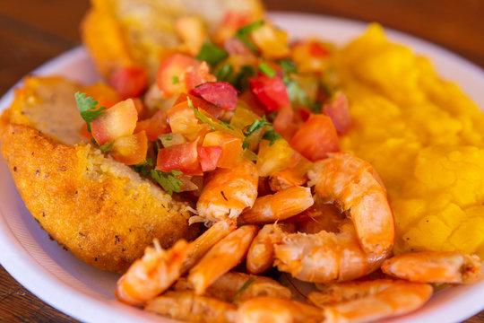 Acaraje, traditional Brazilian street food of Bahia.