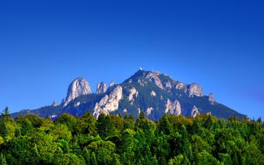 Fotorollo Dunkelblau summer landscape in Ceahlau mountain. Romania