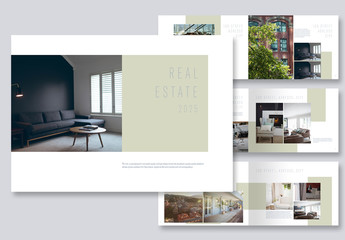 Brochure Layout with Light Green Accents