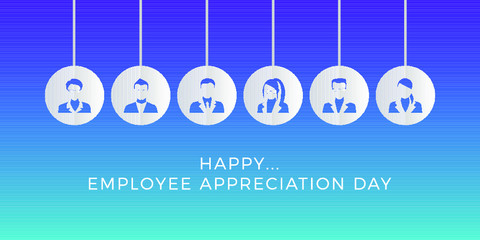 Happy Employee Appreciation Day Modern Background