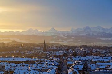 Bern im Winter, Schweiz