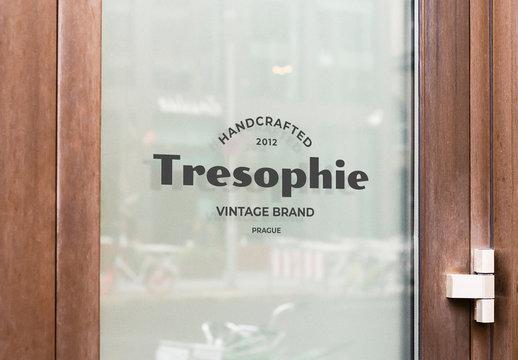 Window Logo Mockup Wall Mount Sign Vinyl