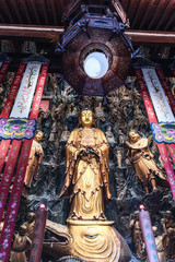 Papiers peints Imagination Golden Buddha Statue in the Jade Buddha Temple in Shanghai.