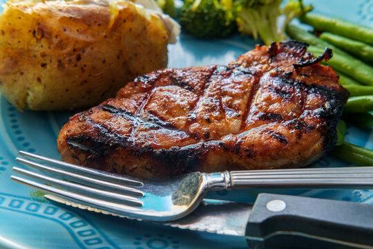 Grilled Porkchops Dinner