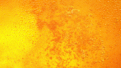 Wall Mural - Detail of beer drink with bubbles