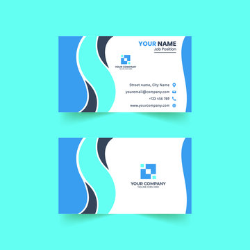 Professional Creative Abstract Business Card Free Vector