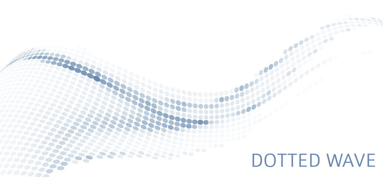 Simple dotted wave. Minimal vector graphics