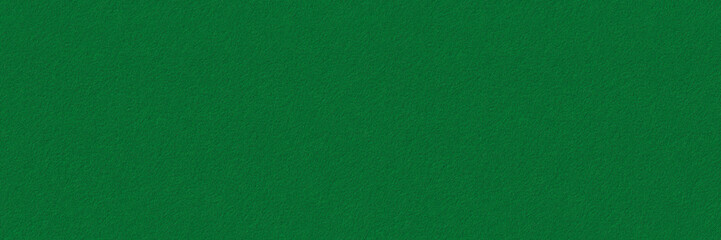 Seamless green felt background texture. Surface of  snooker or poker table. Wide panoramic banner.