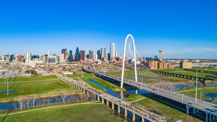 Keuken foto achterwand Texas Dallas, Texas, USA Drone Skyline Aerial