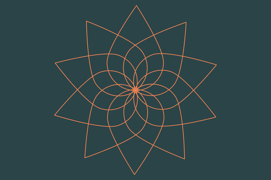 An abstract floral spirograph shape background image.