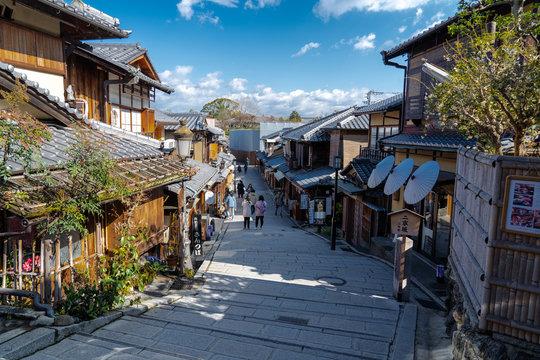 二年坂と京都の街並み