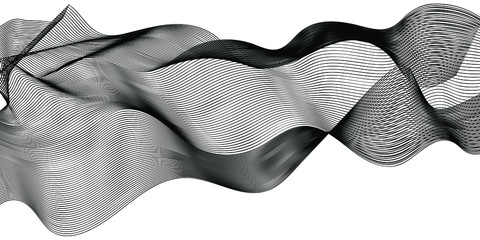 abstract wavy lines modern vector background Fototapete