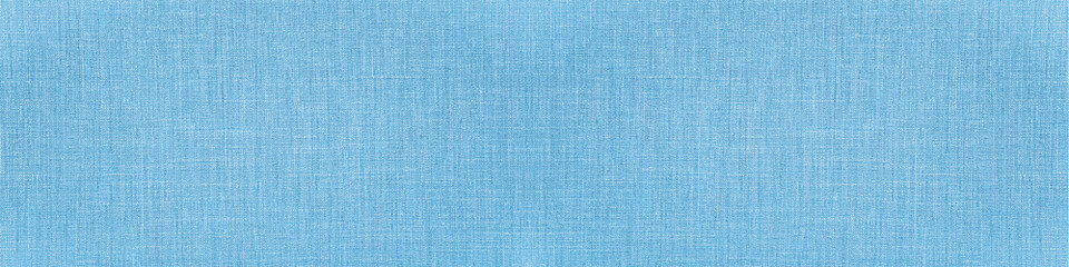 Bright blue natural cotton linen textile texture background banner panorama