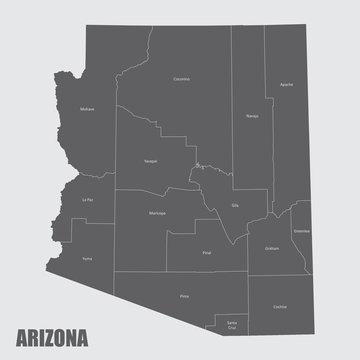 Arizona counties map