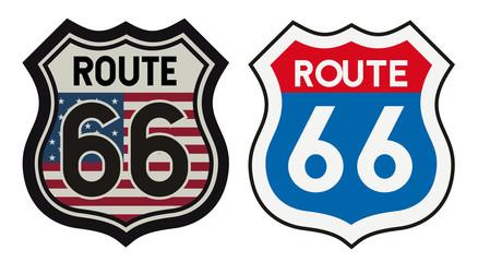 Route 66 vintage metal sign