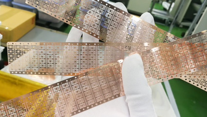 semiconductor lead frame for electronic chip