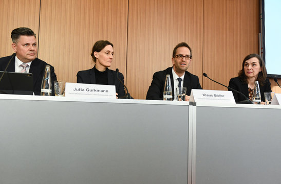 The German consumer association (VZBV) hold news conference on diesel deal in Berlin
