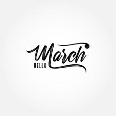 Hello March Banner Vector Design For Celebrate Moment