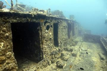 Spoed Foto op Canvas Olijf Wreck Deck