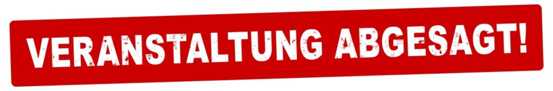 nlsb1292 NewLongStampBanner nlsb - german label / banner - deutsch - Stempel - Veranstaltung abgesagt! - Event - 6zu1 - xxl g9125