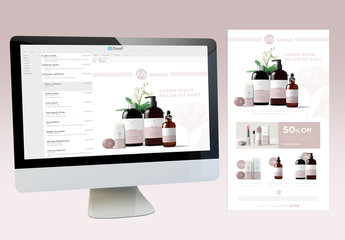 Cosmetic Products Shop Digital Newsletter Layout