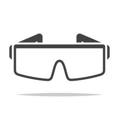 Safety glasses icon transparent vector