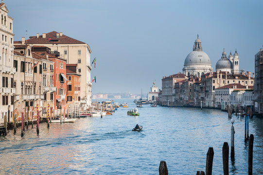 View from the Canal Grande Academy bridge in Venice