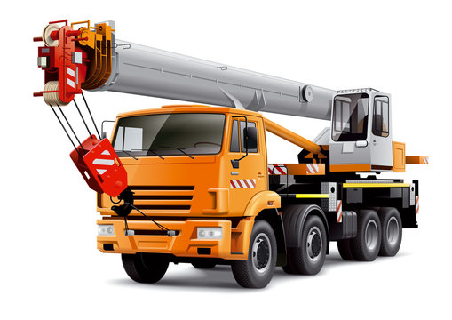 Crane truck illustration.