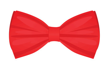 Red bow tie. vector illustration