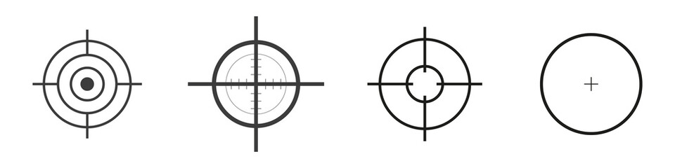Set aim icon in trendy flat style isolated on white background.