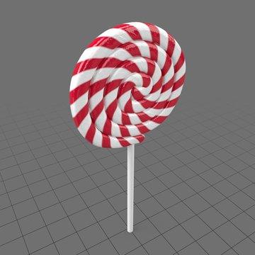 Round striped lollipop